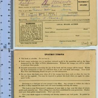 1972.4.0006 (Book, ration) image