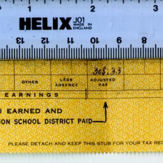 1986.4.490 (Receipt, pay stub) image