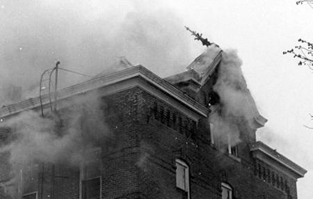 Old Gilchrist Hall : A Memory Etched in Flame Image